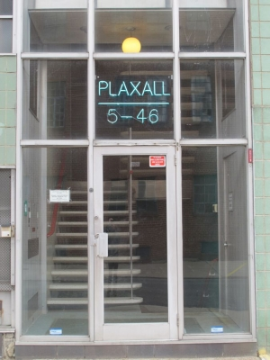 unaltered Plaxall Building entrance